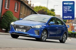 Electric Car of the Year Awards 2021 - Hyundai Ioniq PHEV with badge