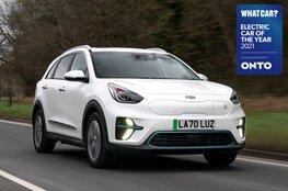 Electric Car of the Year Awards 2021 - Kia e-Niro with badge