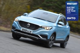 Electric Car of the Year Awards 2021 - MG ZS EV with badge
