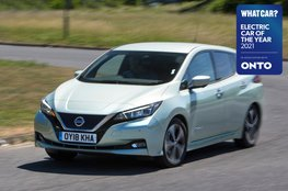 Electric Car of the Year Awards 2021 - Nissan Leaf with badge