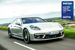 Electric Car of the Year Awards 2021 - Porsche Panamera 4 E-Hybrid with badge