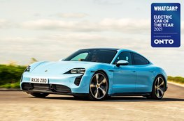 Electric Car of the Year Awards 2021 - Porsche Taycan with badge