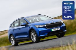 Electric Car of the Year Awards 2021 - Skoda Enyaq iV with badge