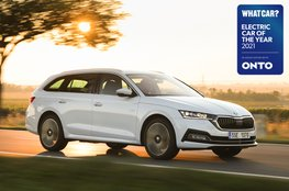 Electric Car of the Year Awards 2021 - Skoda Octavia iV Estate with badge