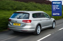 Electric Car of the Year Awards 2021 - Volkswagen Passat GTE Estate with badge