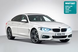 Used Car of the Year 2022 - BMW 4 Series Gran Coupe with badge