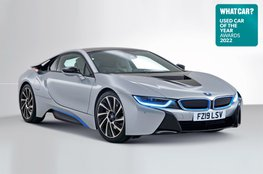 Used Car of the Year 2022 - BMW i8 with badge