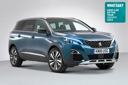 Used Car of the Year 2022 - Peugeot 5008 with badge