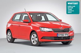 Used Car of the Year 2022 - Skoda Fabia with badge