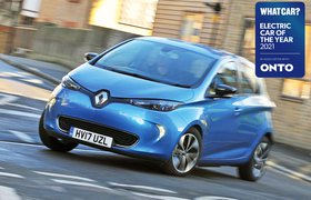 Electric Car of the Year Awards 2021 - Renault Zoe with badge