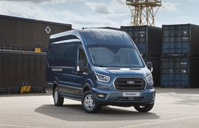 Ford Transit van front three-quarter static