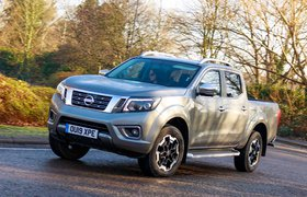 Nissan Navara 2020 RHD front right cornering