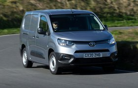 Toyota Proace City van action nose on