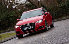 Audi A3 Sportback 2019 front tracking shot