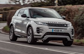 2019 Range Rover Evoque front tracking shot