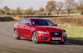 Jaguar XF 2017 front cornering shot