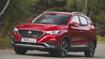 MG ZS Electric 2019 front left cornering