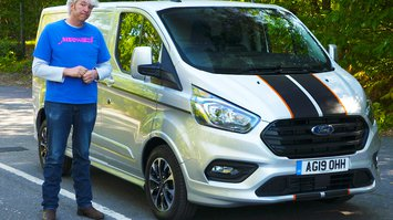 Edd China with Ford Transit Custom