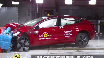 Tesla Model 3 crash test video