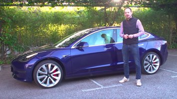 Will Nightingale with Tesla Model 3