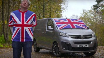 Edd China with Vauxhall Vivaro
