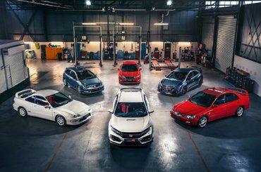 Honda Civic Type R and ancestors