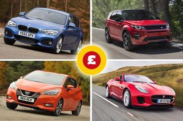 BMW 1 Series, Nissan Micra, Land Rover Discovery Sport, Jaguar F-Type Convertible
