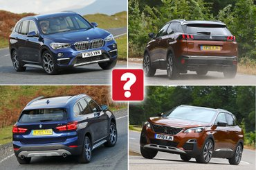 New Peugeot 3008 vs used BMW X1