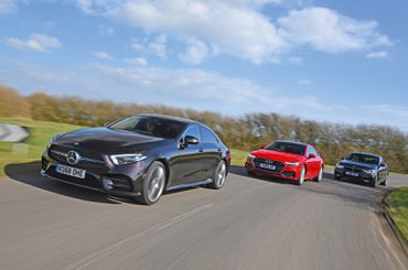 Mercedes CLS leading Audi A7 Sportback and BMW 6 Series GT