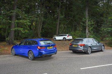 New Audi A4 Avant & BMW 3 Series Touring vs Volvo V60