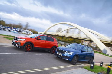 New Skoda Kamiq vs Volkswagen T-Cross