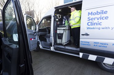 George is one of three Cordwallis Mobile Service Technicians – based in Oxford, Heathrow and Maidenhead – who cover the area around the M4 and M25 corridors