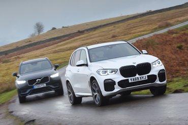 BMW X5 45e vs Volvo XC90 T8 - fronts