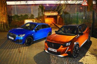 Peugeot 2008 and Audi Q2