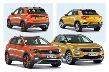 Volkswagen T-Cross vs Volkswagen T-Roc