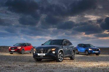 Hyundai Tucson vs Vauxhall Grandland X vs Volvo XC40 fronts