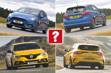 New Ford Fiesta ST vs used Renault Megane RS 300 Trophy montage