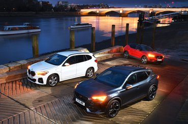 BMW X1 vs Cupra Formentor vs Volvo XC40 fronts