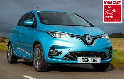 Renault Zoe 2020 RHD front tracking awards pic