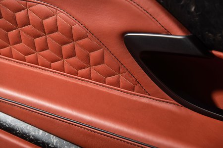 Aston Martin DBS Superleggera leather work