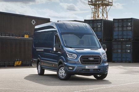 Ford Transit van front three-quarter static