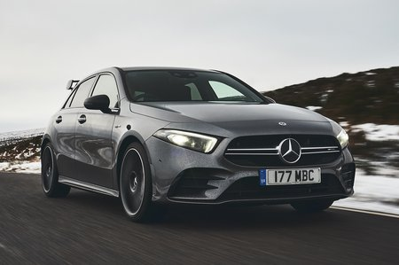Mercedes-AMG A35 front tracking shot