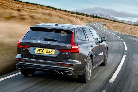 Volvo V60 CC 2019 rear tracking shot