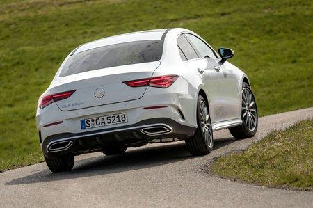 Mercedes CLA 2019 LHD rear tracking shot