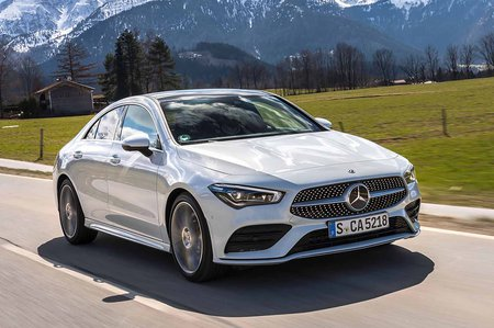 Mercedes CLA 2019 LHD tracking shot