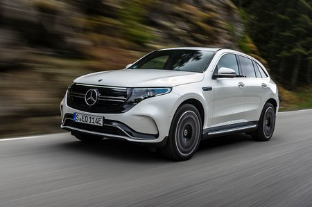 Mercedes EQC 2019 front left tracking shot