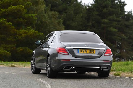 Mercedes-Benz 2019 E-Class saloon rear cornering