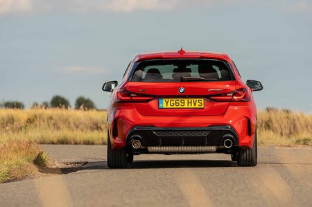 BMW M135i xDrive 2019 RHD press rear tracking