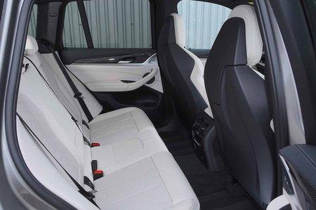 BMW X3 M 2019 RHD rear seats