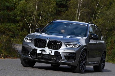 BMW X3 M 2019 front right cornering